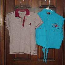 1 Biker Design Teal Shirt &ampamp 1 Cutter &ampamp Buck Red &ampamp White a - Shirt Photo