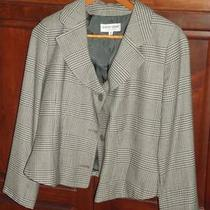 1 Giorgio Armani Tan Green Black Cream Jacket Photo