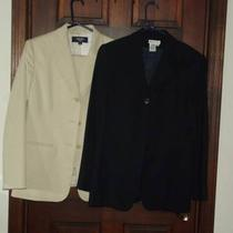 1 Navy Blue Talbots Blazer / 1 Tan Jones Wear Pant Suit Photo