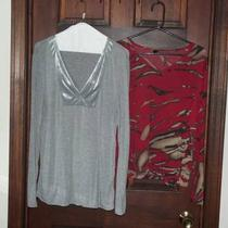 1 Simply Vera Wang Grey Top &ampamp 1 Lynn Ritchie Red Tan Black Top Photo