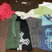 10 Good Condition Tees &ampamp Tanks. Name Brands Photo