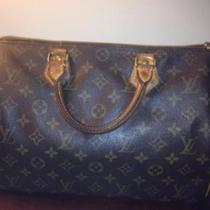 100% Authentic Louis Vuitton Brown Monogram Speedy 30 Handbag Photo