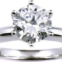 1.13ct Tw H/vs2 Round Diamond Ring in Platinum Setting  Photo