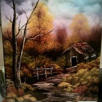 11x14 fall oil painting Photo