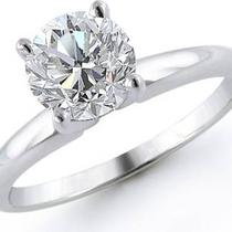 1.25 G/vs1 Round Brilliant Engagement Ring Photo