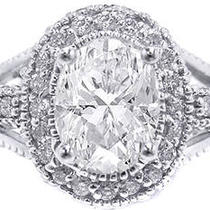 1.25ct Oval Cut Diamond Engagement Ring Photo