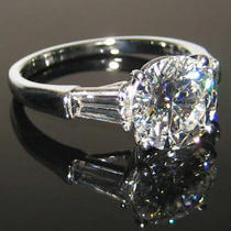 1.36ct F/vs2 Round Diamond Ring Photo
