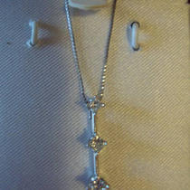 14kt. White Gold Diamond Passpresent &ampamp Future Pendant Photo