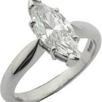 1.65ct Marquise Diamond Cut Engagement Ring  Photo