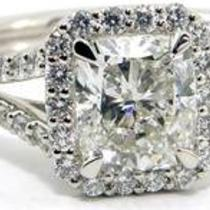 1.70ct Cushion Cut Diamond Ring  Photo
