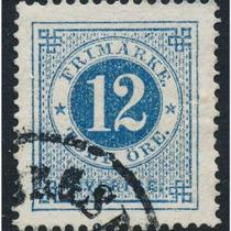 1872 Stamp from Sweden, Scott no. 22 Photo