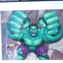 18x40 Picture Puzzle Of The Hulk Already Assembled Photo