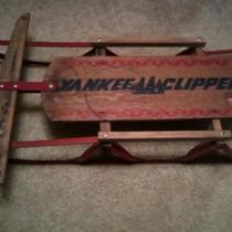 1950's Yankee Clippers Sled Photo