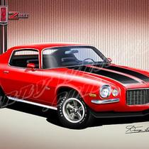 1970-1977 Camaro art prints from the Automotive Art of Danny Whitfield Photo