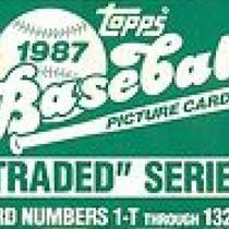 1987 TOPPS TRADED 132 CARD SET WITH GREG MADDUX ROOKIE Photo