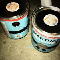 2 cans Martha Stewart paint Photo