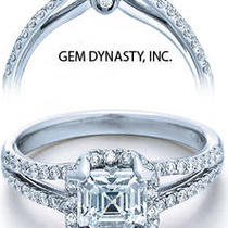 2.00ct Asscher Cut Diamond Engagement Ring  Photo