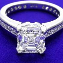 2.10ct Asscher Cut Diamond Engagement Ring  Photo