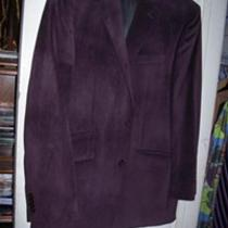 25 Sean John Purple Suede Jacket 40r Photo