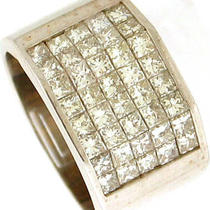 2.85ctw Vs1-H Princess Cut Diamond men&amp039s Ring 18k Wg Photo