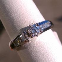 .37ct-14k White Gold Round Brilliant Diamond Engagement Ring .73ctw Photo