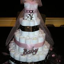 4 Tier Diaper Cake, custom made for you! Photo