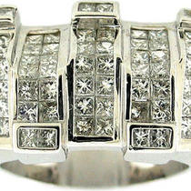 4.00ctw Princess Cut men&amp039s Huge Diamond Ring 14k Wg Photo
