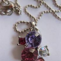 5 Cz Silver Plated Necklace Photo