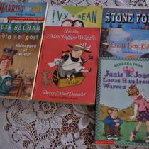 7 Assorted Childrens Reading Books, Scholastic, Grades 4-6 Photo