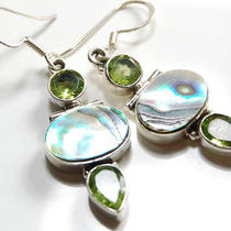 Abalone Shell 925 Sterling Silver Earrings 19229 Photo