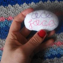 Ace Face Plush Brooch/badge Glitter Photo