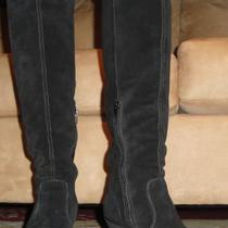 Aldo Black Suede Spivak Wedge Boots sz8 Photo