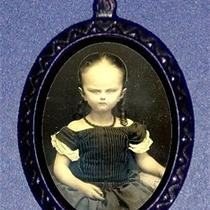 Alien Head Victorian Grotesque Child Girl Surreal Religious Goth Psychobilly Diy Necklace Pendant Shs Original Design  Photo