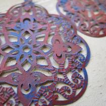 Americana Luxe (Handmade Filigree Statement Earrings) Photo