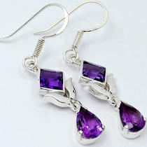 Amethyst 925 Sterling Silver Earring Er2106a Photo