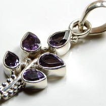 Amethyst 925 Sterling Silver Pendant 62199 Photo