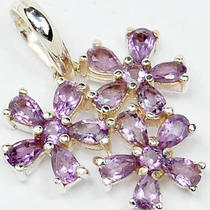 Amethyst 925 Sterling Silver Pendant P1267a Photo