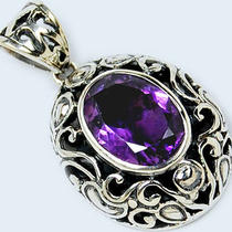 Amethyst 925 Sterling Silver Pendant P1280a Photo