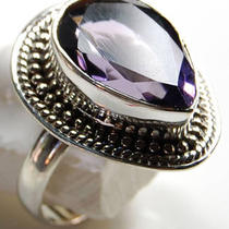 Amethyst 925 Sterling Silver Ring 16374 Photo