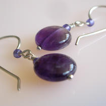 Amethyst and Sterling Silver Earrings Photo