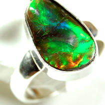 Ammolite 925 Sterling Silver Ring 28658 Photo