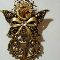 Angel Pin in Antique Gold Tone Photo