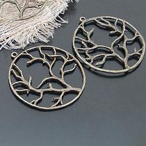 Antique Bronze Circle Tree Pendant 10pcs  20732 Photo