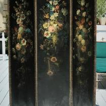 Antique Three Panel Screen Photo