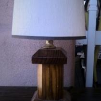 Antique Wooden Desk Lamp Photo