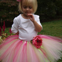 Apple Blossom Tutu Sizes Small and Medium......free Matching Tulle Clip Photo