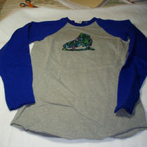 Appliqued Ice Skate Long-Sleeved T-Shirt Photo