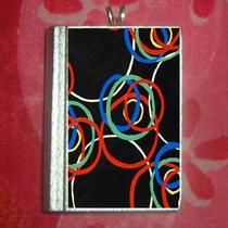 Art Nouveau/deco Print Black Circles  Pendant Photo
