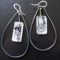 Art Nouveau Girl Earrings Photo