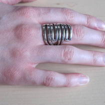 Artisan Sterling Silver Ring  Photo